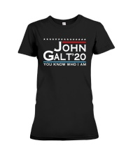 John Galt '20 You Know Who I Am Shirt Premium Fit Ladies Tee thumbnail