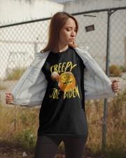 Hugging Pumpkin Creepy Joe Biden Shirt Classic T-Shirt apparel-classic-tshirt-lifestyle-07