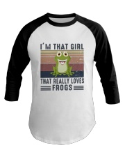 Vintage Im That Girl That Really Loves Frog Shirt Baseball Tee thumbnail