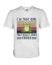 Vintage Im That Girl That Really Loves Frog Shirt V-Neck T-Shirt thumbnail