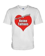 Weil Reine Haut Reinhaut Keine Tattoos Shirt V-Neck T-Shirt thumbnail