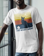 Vintage Cat I Do What I Want Shirt Classic T-Shirt apparel-classic-tshirt-lifestyle-front-39