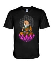 Yoga Mouse Rat Shirt V-Neck T-Shirt thumbnail