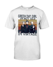 Green Day Girl Im Not Old Im Vintage Shirt Premium Fit Mens Tee tile