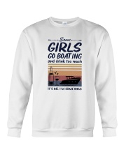 Vintage Some Girl Go Boating And Drink Much Shirt Crewneck Sweatshirt thumbnail