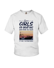 Vintage Some Girl Go Boating And Drink Much Shirt Youth T-Shirt thumbnail