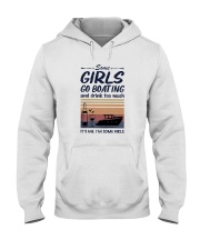 Vintage Some Girl Go Boating And Drink Much Shirt Hooded Sweatshirt thumbnail
