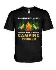 Beers My Drinking Friends Have A Camping Shirt V-Neck T-Shirt tile