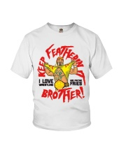 Keep Featherin It I Love Wrestling Shirt Youth T-Shirt thumbnail