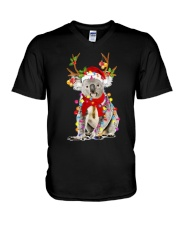 Koala Reindeer Christmas Light Shirt V-Neck T-Shirt thumbnail
