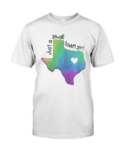 Heart Texas Just A Small Town Girl Shirt Premium Fit Mens Tee tile