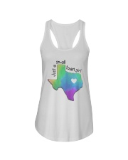 Heart Texas Just A Small Town Girl Shirt Ladies Flowy Tank tile