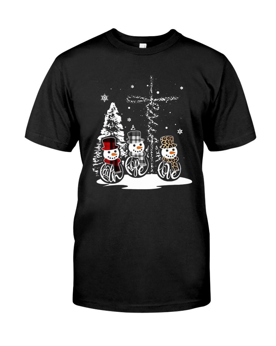Faith Hope Love Snowman Christmas Jesus Shirt Classic T-Shirt