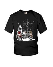 Faith Hope Love Snowman Christmas Jesus Shirt Youth T-Shirt thumbnail