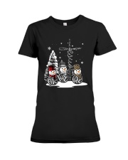 Faith Hope Love Snowman Christmas Jesus Shirt Premium Fit Ladies Tee thumbnail