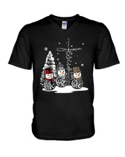Faith Hope Love Snowman Christmas Jesus Shirt V-Neck T-Shirt thumbnail