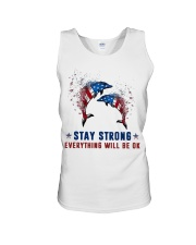 Flag Dolphin Stay Strong Everything Ok Shirt Unisex Tank thumbnail