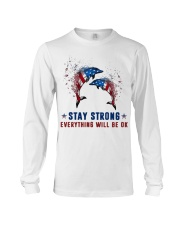Flag Dolphin Stay Strong Everything Ok Shirt Long Sleeve Tee thumbnail
