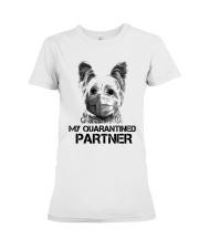 Yorkshire Terrier My Quarantine Partner Shirt Premium Fit Ladies Tee thumbnail