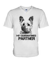 Yorkshire Terrier My Quarantine Partner Shirt V-Neck T-Shirt thumbnail