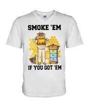 Honey Smoke Em If You Got Em Get The Shirt V-Neck T-Shirt thumbnail