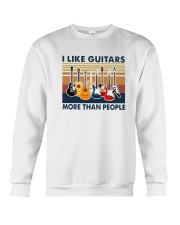 Vintage I Like Guitars More Than People Shirt Crewneck Sweatshirt thumbnail
