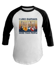 Vintage I Like Guitars More Than People Shirt Baseball Tee thumbnail
