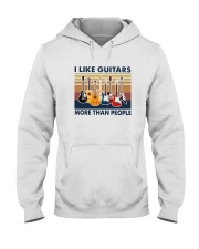 Vintage I Like Guitars More Than People Shirt Hooded Sweatshirt thumbnail
