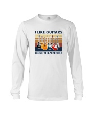Vintage I Like Guitars More Than People Shirt Long Sleeve Tee thumbnail