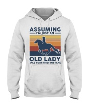 Vintage Horse Riding Assuming I'm Just Shirt Hooded Sweatshirt thumbnail