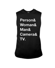 Man Woman Camera Tv T Shirt Sleeveless Tee thumbnail