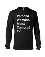Man Woman Camera Tv T Shirt Long Sleeve Tee thumbnail