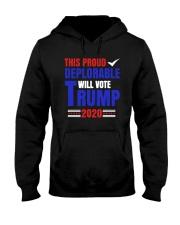 This Proud Deplorable Will Vote Trump 2020 Shirt Hooded Sweatshirt thumbnail