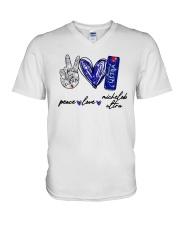 Peace Love Michelob Ultra Shirt V-Neck T-Shirt thumbnail