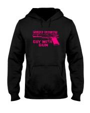 Pink Shirt Gun Guy Hooded Sweatshirt thumbnail