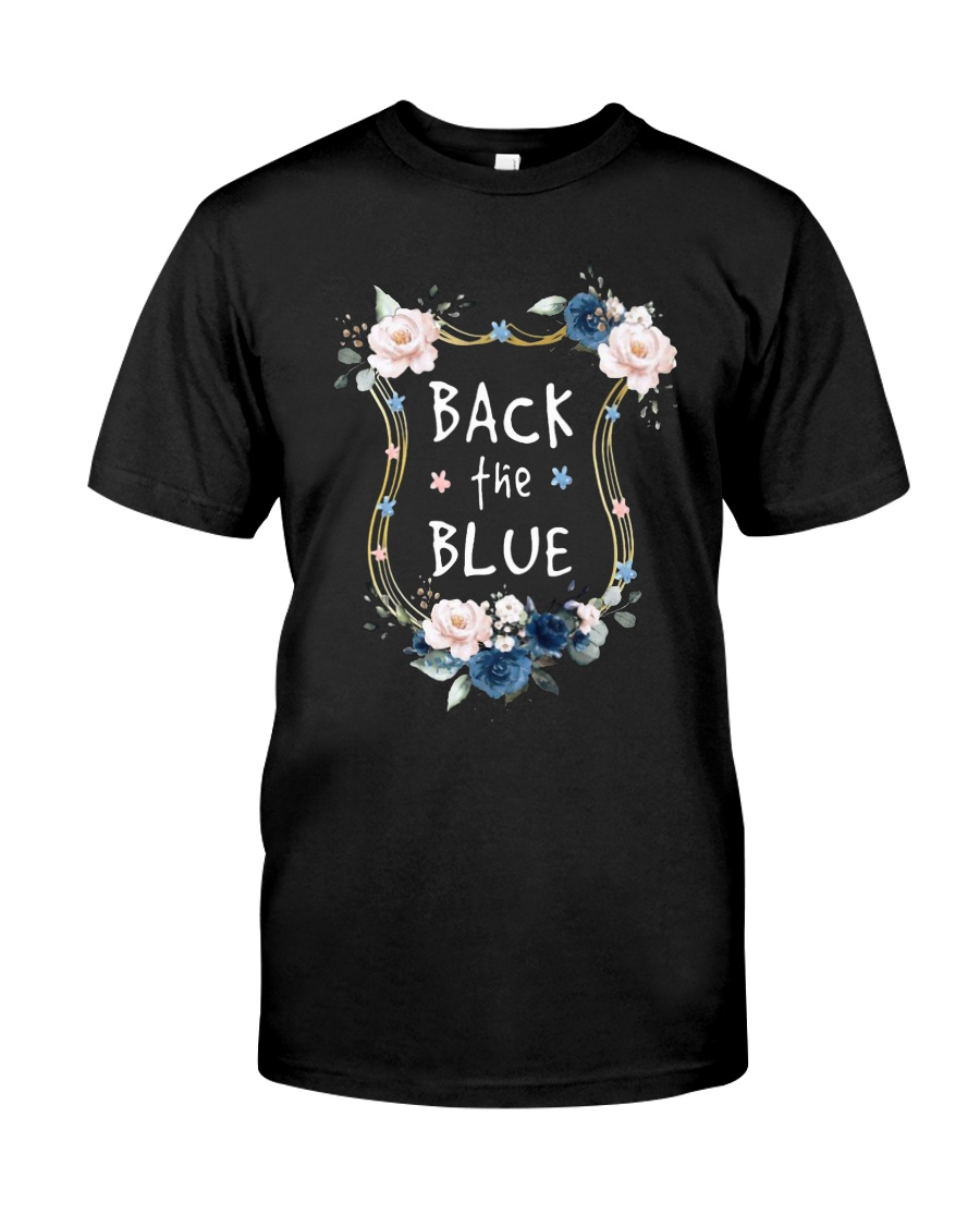 Flower Back The Blue Shirt Premium Fit Mens Tee