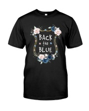 Flower Back The Blue Shirt Premium Fit Mens Tee front