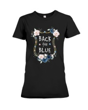 Flower Back The Blue Shirt Premium Fit Ladies Tee thumbnail