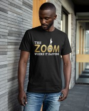 Teacher The Zoom Where It Happens Shirt Classic T-Shirt apparel-classic-tshirt-lifestyle-front-41-b