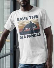 Vintage Dolphin Save The Sea Pandas Shirt Classic T-Shirt apparel-classic-tshirt-lifestyle-front-39