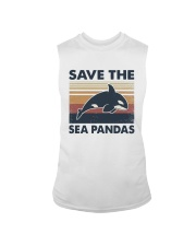Vintage Dolphin Save The Sea Pandas Shirt Sleeveless Tee thumbnail