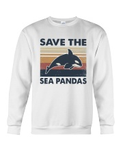 Vintage Dolphin Save The Sea Pandas Shirt Crewneck Sweatshirt thumbnail