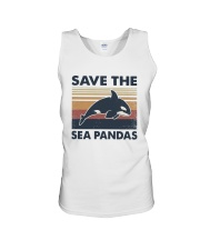 Vintage Dolphin Save The Sea Pandas Shirt Unisex Tank thumbnail