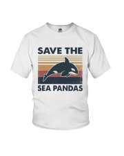 Vintage Dolphin Save The Sea Pandas Shirt Youth T-Shirt thumbnail