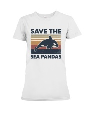 Vintage Dolphin Save The Sea Pandas Shirt Premium Fit Ladies Tee thumbnail
