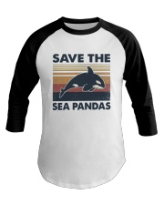 Vintage Dolphin Save The Sea Pandas Shirt Baseball Tee thumbnail
