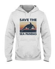 Vintage Dolphin Save The Sea Pandas Shirt Hooded Sweatshirt thumbnail