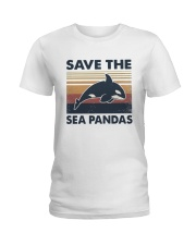 Vintage Dolphin Save The Sea Pandas Shirt Ladies T-Shirt thumbnail