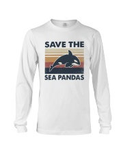 Vintage Dolphin Save The Sea Pandas Shirt Long Sleeve Tee thumbnail