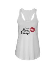 I'm A Nurse And I'm A Savage Shirt Ladies Flowy Tank thumbnail